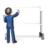 Hombre de negocios, escribiendo en el whiteboard Fotografía de archivo libre de regalías