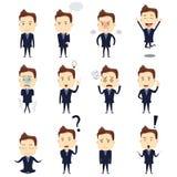 Hombre de negocios Expression Icons Foto de archivo