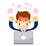 Hombre de negocios Feeling Angry With su ordenador portátil Imagen de archivo