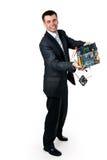 Hombre de negocios feliz Imágenes de archivo libres de regalías