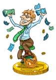 Hombre de negocios feliz stock de ilustración
