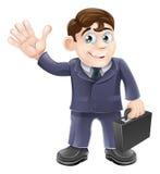 Hombre de negocios feliz de la historieta Imagenes de archivo
