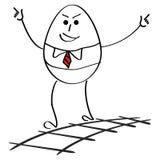 Hombre de negocios feliz en éxito libre illustration