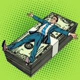 Hombre de negocios financiero del concepto del éxito del negocio libre illustration