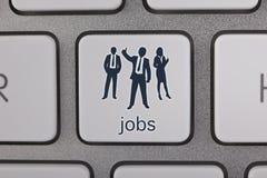 Hombre de negocios Find Job Foto de archivo libre de regalías