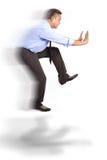 Hombre de negocios flotante fotografía de archivo libre de regalías