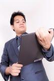 Hombre de negocios With Folio imagenes de archivo