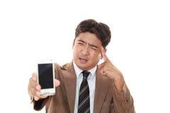 Hombre de negocios frustrado Fotografía de archivo libre de regalías