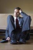 Hombre de negocios frustrado enojado Imagenes de archivo