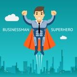 Hombre de negocios Graphic Design del super héroe de Cartooned Fotos de archivo libres de regalías