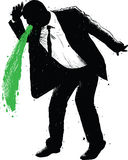 Hombre de negocios Green Vomit Foto de archivo libre de regalías