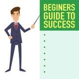 Hombre de negocios Guide To Success Imagen de archivo libre de regalías
