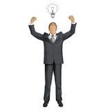 Hombre de negocios With Hands Up del vector Libre Illustration