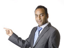 Hombre de negocios Happy después de wining un trato Imagen de archivo