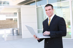 Hombre de negocios hermoso Fotos de archivo libres de regalías