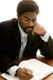Hombre de negocios hermoso del African-American Foto de archivo libre de regalías