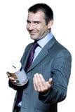 hombre de negocios hermoso expresivo sonriente Imágenes de archivo libres de regalías