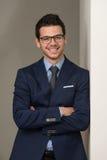 Hombre de negocios hermoso joven In Blue Suit Foto de archivo libre de regalías