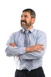 Hombre de negocios hispánico With Arms Crossed Fotografía de archivo libre de regalías