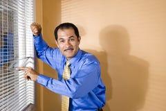 Hombre de negocios hispánico de mediana edad Fotos de archivo