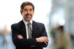 Hombre de negocios hispánico maduro Imagen de archivo libre de regalías