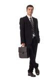 Hombre de negocios Holding Briefcase imagen de archivo