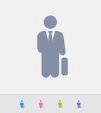 Hombre de negocios Holding Briefcase - iconos del granito stock de ilustración
