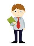 Hombre de negocios Holding Paper Work libre illustration