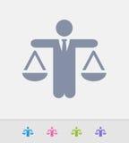 Hombre de negocios Holding Scales - iconos del granito libre illustration