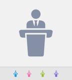 Hombre de negocios Holding Speech - iconos del granito stock de ilustración