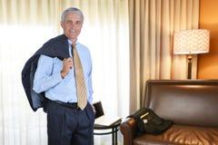 Hombre de negocios Hotel Room Imagenes de archivo
