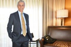 Hombre de negocios Hotel Room Fotografía de archivo