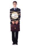 Hombre de negocios implicado con la cuerda foto de archivo