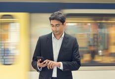 Hombre de negocios indio asiático Imagenes de archivo