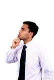 Hombre de negocios indio en actitud de pensamiento foto de archivo libre de regalías