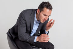 Hombre de negocios infeliz Fotos de archivo