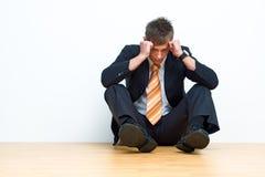 Hombre de negocios infeliz Imagen de archivo libre de regalías