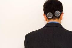 Hombre de negocios insano Imagen de archivo libre de regalías