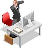 Hombre de negocios isométrico Sale Lead Bank Fotos de archivo libres de regalías