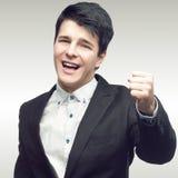 Hombre de negocios joven acertado Foto de archivo libre de regalías