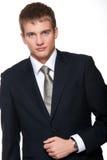 Hombre de negocios joven aislado en blanco. Imagenes de archivo