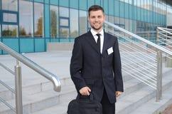 Hombre de negocios joven al aire libre Fotografía de archivo libre de regalías