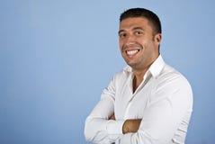 Hombre de negocios joven alegre Imagen de archivo libre de regalías