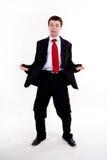Hombre de negocios joven asustado foto de archivo