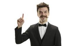 Hombre de negocios joven con la corbata de lazo Fotos de archivo