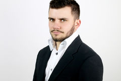 Hombre de negocios joven con los ojos azules Fotografía de archivo