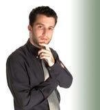 Hombre de negocios joven confidente Imágenes de archivo libres de regalías