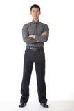 Hombre de negocios joven confidente Foto de archivo