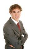 Hombre de negocios joven confidente fotos de archivo
