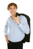 Hombre de negocios joven - confidente Fotografía de archivo libre de regalías